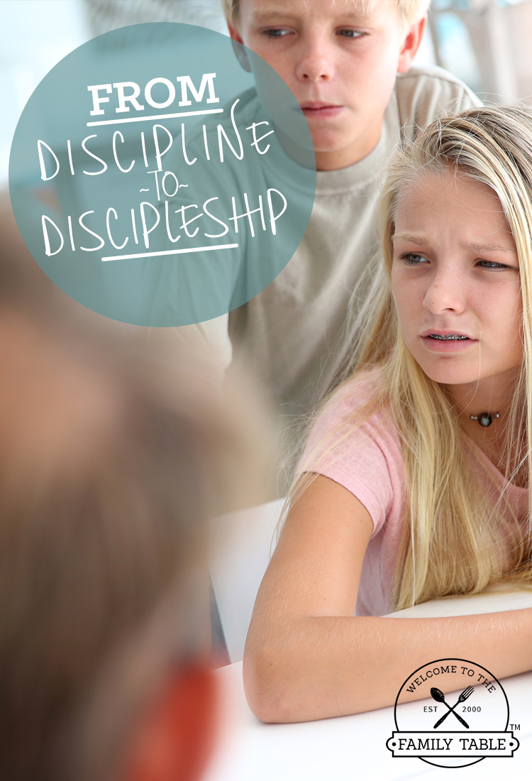 It never feels good when we have to discipline our children. The key is turning the discipline to discipleship.