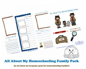All About My Homeschooling Family Free Printable