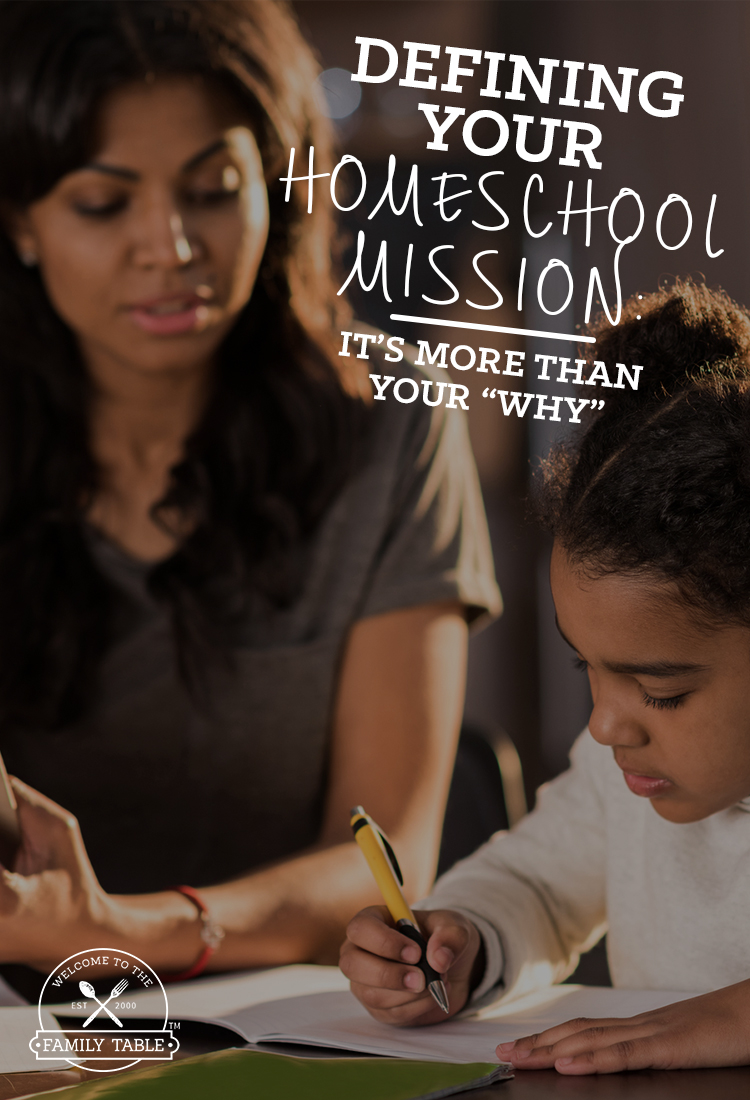 """Have you defined your homeschool mission? Renee shares that your homeschool mission is more than your """"why""""."""