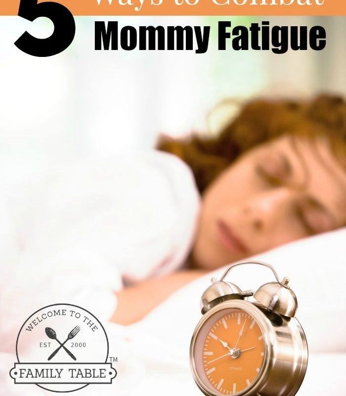 If you are sick of walking around like a zombie all day, come see these 5 (simple) ways you can combat mommy fatigue today!