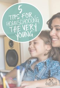 Are you homeschooling very young children? If so, here are 5 tips to help.