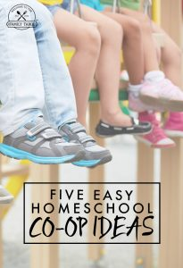 Are you looking for ideas to start a homeschool co-op? Here are 5 easy homeschool co-op ideas to get you on your way!