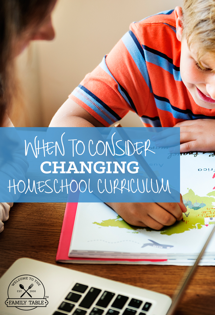 Have you ever wondered if you should consider changing your homeschool curriculum? Come see when you should.