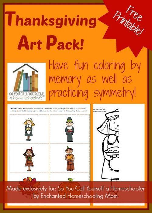 Free printable Thanksgiving Art Pack