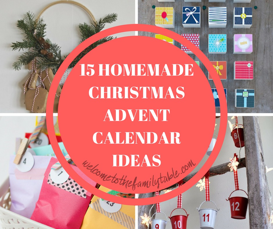 Looking for some fun homemade Advent calendars to make with the family this Christmas? Here are 15 fabulous ideas!