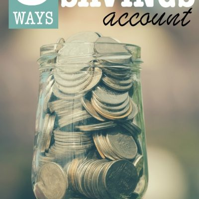Looking for some sure-fire ways to start and build a savings account? Here are 5 solid ways we did and continue to use nearly 20 years later!