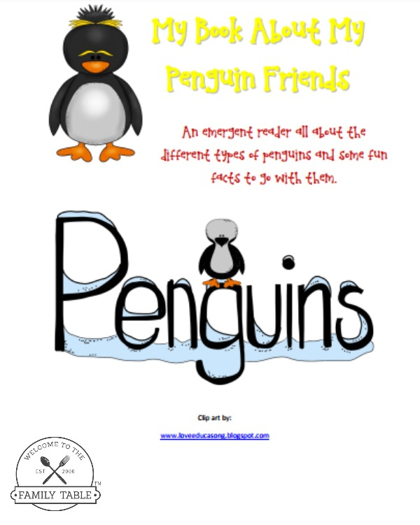 free penguin printable