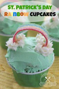 St. Patrick's Day Rainbow Cupcake Recipe