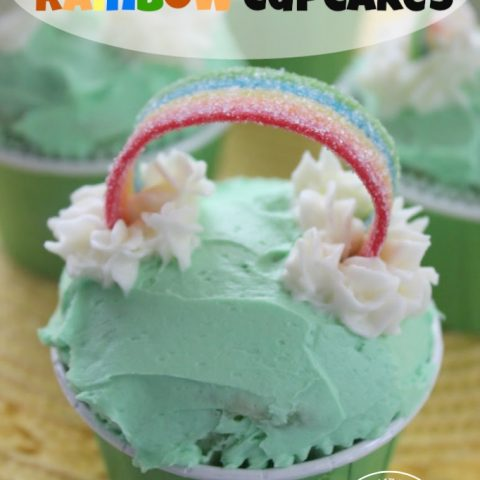 St. Patrick's Day Rainbow Cupcake Recipe