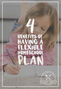 4 Benefits of Having a Flexible Homeschool Plan