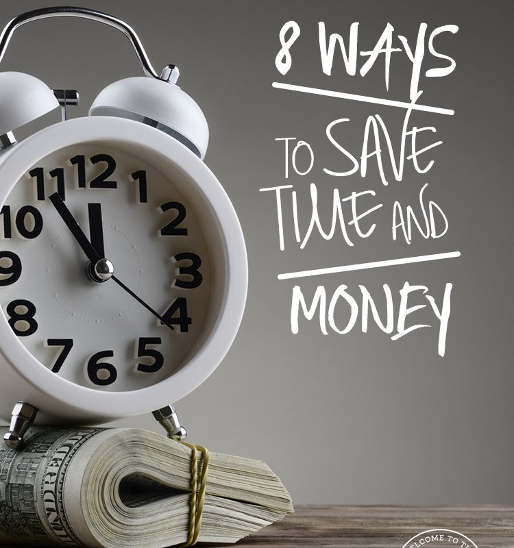 Could you use some inspiration to save more money and manage your time better as well? If so, come see these 8 practical ways to save both time and money!