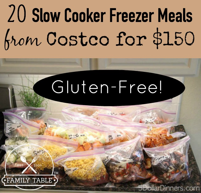 Gluten Free Freezer Meal Plan