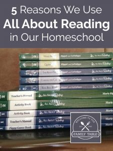 5 Reasons We Use All About Reading in Our Homeschool