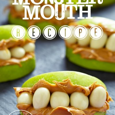 Looking for an easy and fun way to connect with your kids in the kitchen? Try this delicious and healthy monster mouth recipe! :: welcometothefamilytable.com
