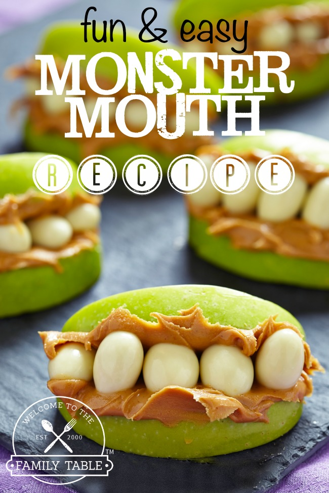 Looking for a fun and easy treat to make for snack time? These monster mouth apple treats are sure to deliver!