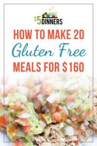 Gluten Free Freezer Meal Plan