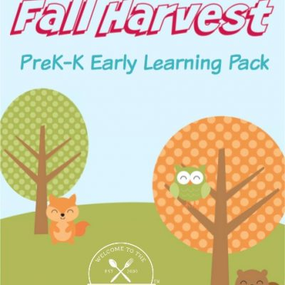 Come grab your FREE Fall Harvest Printable Pre-K thru K Early Learning Pack!