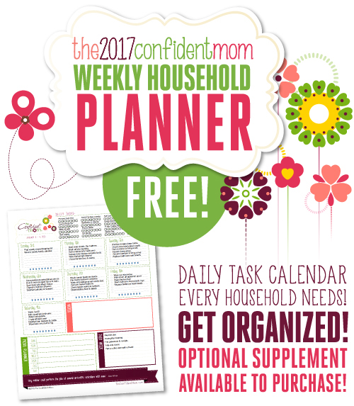FREE 2017 Confident Mom Weekly Planner