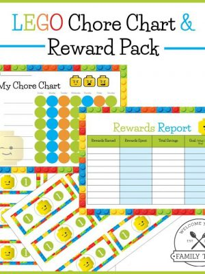 Free Printable Lego Chore Chart