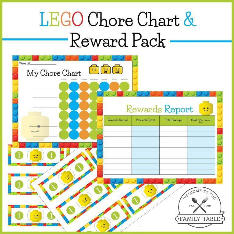 Free Lego Chore Chart  Reward Pack  Welcome To The Family Table
