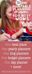Free Printable Planning Resrouces for Busy Moms