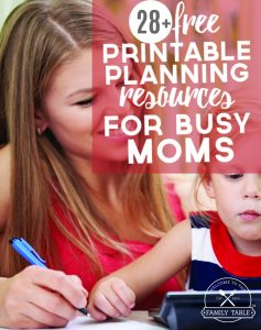 free printable planning resources for busy moms