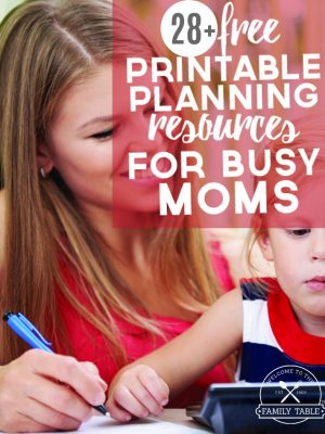 Are you a busy mom who could use some free resources to get more organized? Come check out these 28+ free printable resources to help get you there!