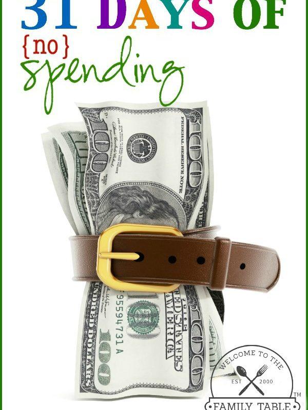 31 Days of No Spending