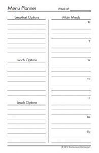 free half-size menu planner from contentedathome.com