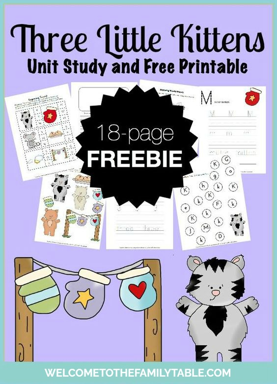 Looking for a fun way to learn about the Three Little Kittens? Come grab this free unit study and printable pack!