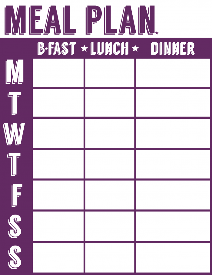 Free Meal Planner At Frugalitygal.com