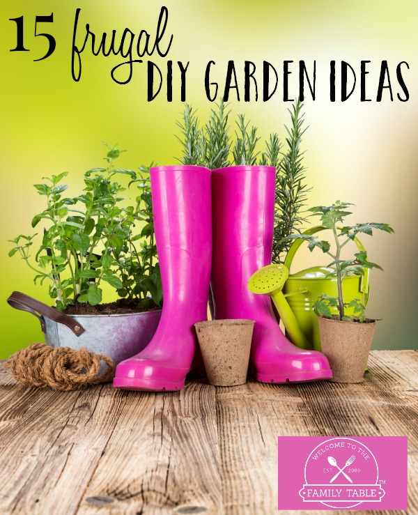 Spring is on the horizon! Come check out these 15 frugal DIY garden ideas to get your spring garden off to the right start.