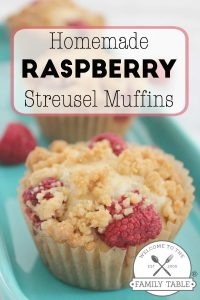 Are you looking for a delicious new muffin recipe? Try our delicious raspberry streusel muffins!