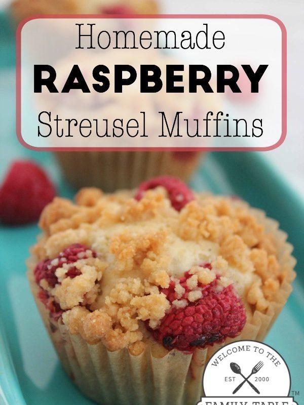 Homemade Raspberry Streusel Muffins
