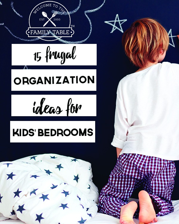 Are you looking for some low-cost ideas to help organize your child's room? If so, come see these 15 ideas!