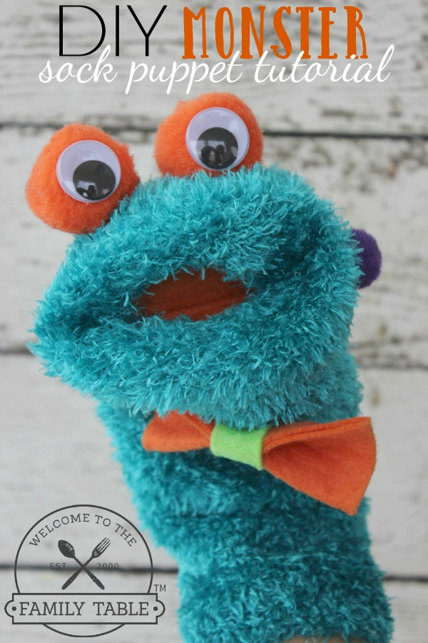DIY Monster Sock Puppet Tutorial