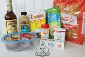 Ham and Cheese Sliders Ingredients