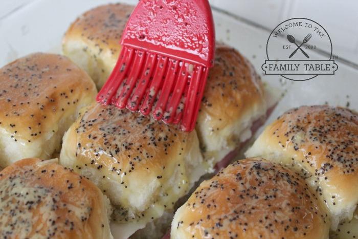 Ham and Cheese Sliders on Hawaiian rolls