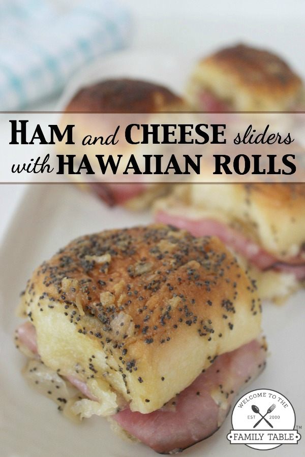 Ham and Cheese Sliders on Hawaiian Rolls