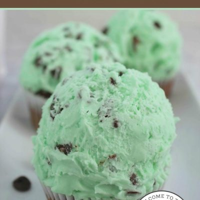 My favorite ice cream in the world is mint chocolate chip! If you love my fave ice cream you will adore these yummy (and cute) cupcakes! :: welcometothefamilytable.com
