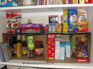 DIY Diaper Box Pantry Organizer