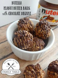These Nutella peanut butter balls are great for a sweet treat or on-the-go snack! :: welcometothefamilytable.com