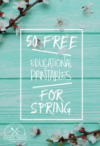 Looking for some fun educational printables? Come see these 50 free educational printables for spring! -Welcome to the Family Table™