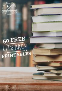 Looking for some great literacy printables? Here are 50 free ones to start you off!