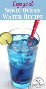 Looking for a fun and yummy drink to make with the kids? Try this copycat Sonic ocean water recipe! :: welcometothefamilytable.com