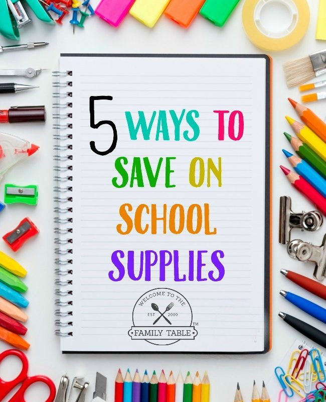 Looking for some ways to save money on school supplies? Here are 5 ideas.