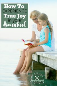 Could you use some encouragement to experience joy once again in your homeschool? You are not alone.