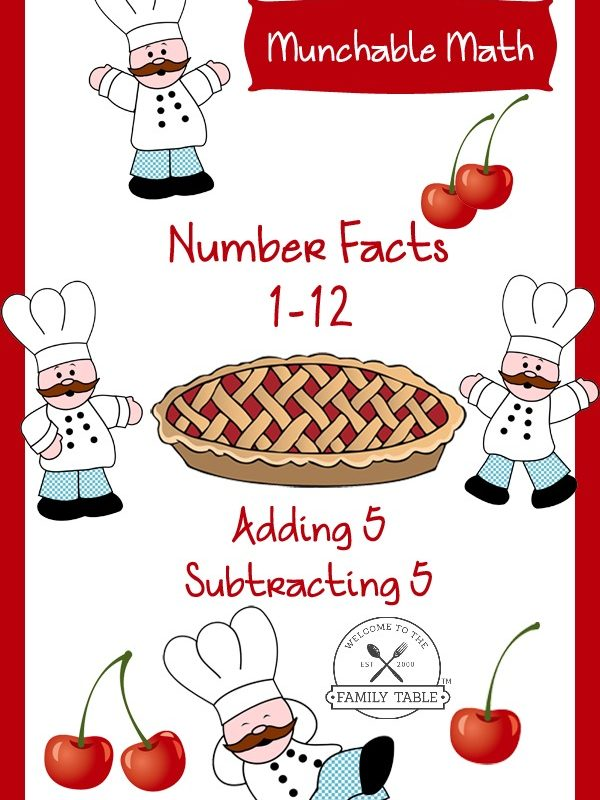 Free Elementary Math Worksheets: Munchable Math-Cherries!