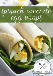 These delicious and healthy spinach and avocado egg wraps are a great way to start off your day! :: welcometothefamilytable.com