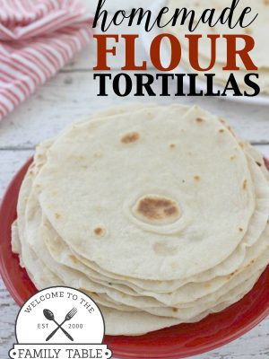 Come and try your hand at these delicious homemade flour tortillas! You won't be disappointed. :: welcometothefamilytable.com